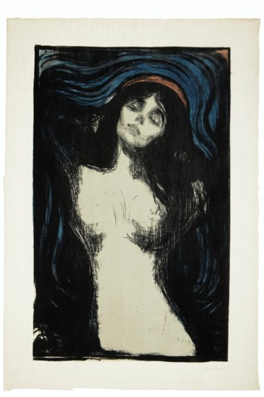 Edvard Munch (1863-1944), Madonna. Sheet 26 x 17¾  in (660 x 451  mm). Offered in Prints & Multiples on 17-18 April 2019 at Christie's in New York and sold for $399,000
