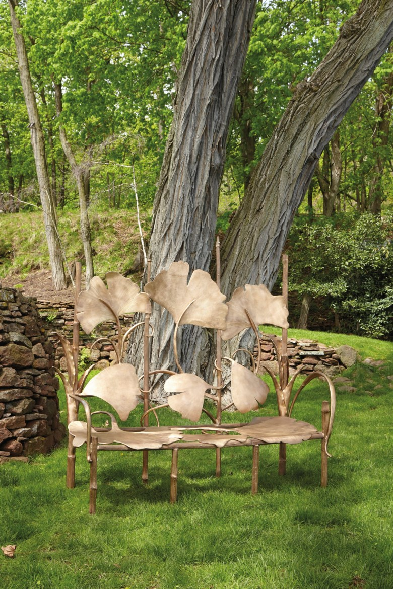 Claude Lalanne (1925-2019), 'LES GRANDES BERCES' bench, 2009, with artists monogram CL and impressed Lalanne 58b 2009. 71  in (180.3  cm) high, 70  in (177.8  cm) wide, 26 ½  in (67.3  cm) deep. Estimate $400,000-600,000. Offered in Design on 4 June 2019 at Christie's in New York