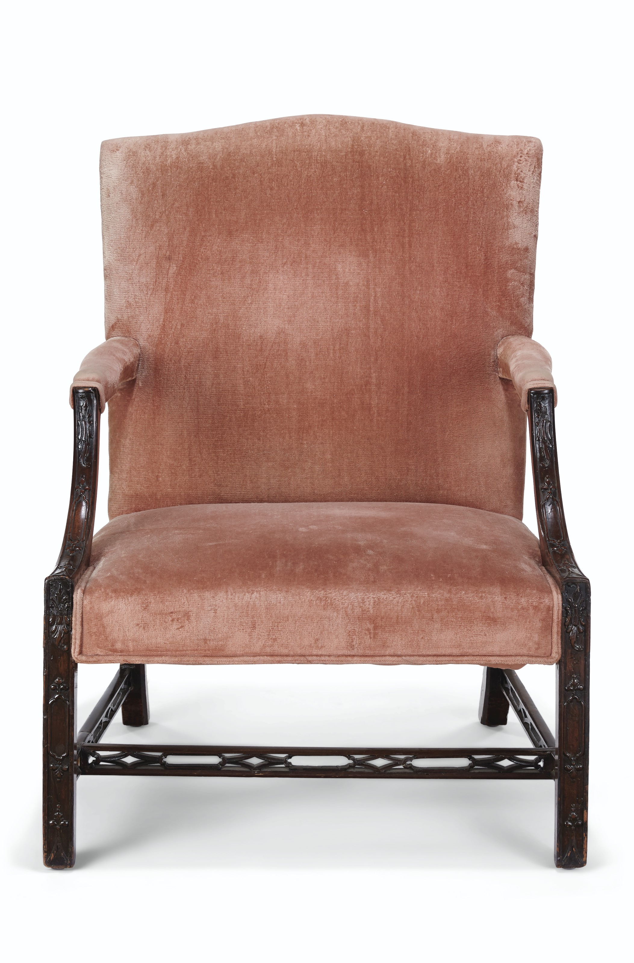 AN ENGLISH LIBRARY ARMCHAIR , PARTS 18TH CENTURY AND LATER ...