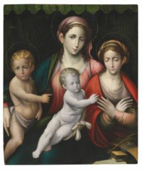 The Madonna and Child with Saint John the Baptist and the Mystic Marriage of Saint Catherine