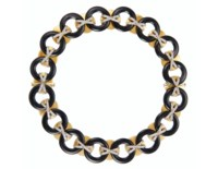 ONYX, DIAMOND AND GOLD NECKLACE, ALDO CIPULLO