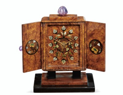 ART DECO WOOD, MOTHER-OF-PEARL