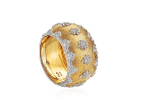 BUCCELLATI TWO-TONE GOLD RING
