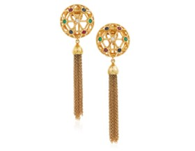 VALENTINO MULTI-GEM AND GOLD EARRINGS