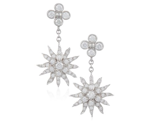 Tiffany Co Diamond Starburst Earrings
