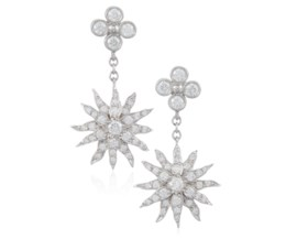TIFFANY & CO. DIAMOND STARBURST EARRINGS
