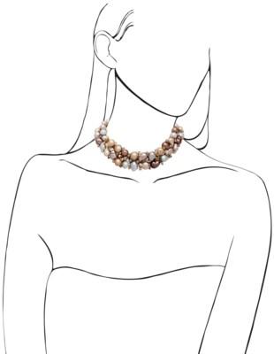 MULTI-COLORED CULTURED BAROQUE PEARL AND COLORED DIAMOND NECKLACE
