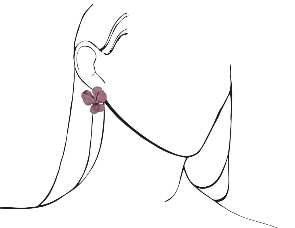 JAR ALUMINUM 'PANSY' EARRINGS