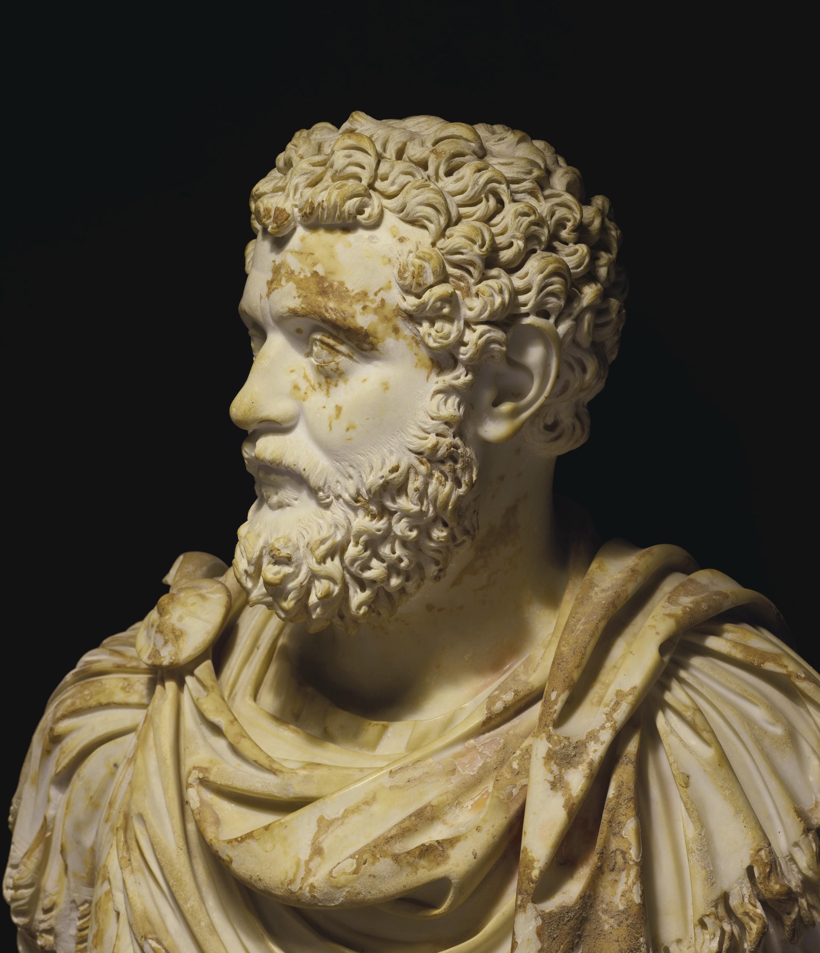A ROMAN MARBLE PORTRAIT BUST OF EMPEROR DIDIUS JULIANUS