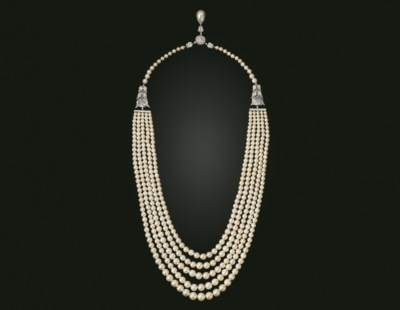 A FIVE-STRAND NATURAL PEARL AN