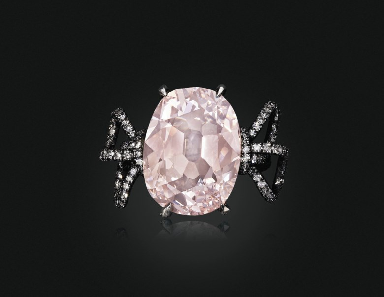 The Pink Golconda Diamond, a coloured diamond and diamond ring, by JAR. Sold for $1,695,000 on 19 June 2019 at Christie's in New York
