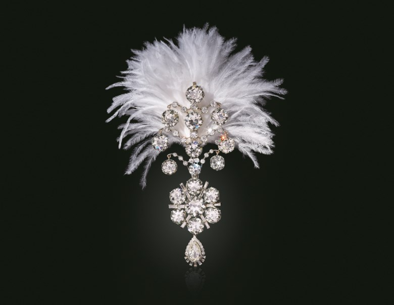 A Belle Époque diamond jigha, 1907 and remodelled circa 1935. Sold for $1,815,000 on 19 June 2019 at Christie's in New York