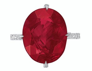 RUBY AND DIAMOND RING, JAR