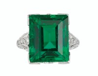 'THE DUPONT EMERALD' AN IMPORTANT BELLE ÉPOQUE EMERALD AND DIAMOND RING, TIFFANY & CO.