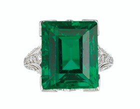 'THE DUPONT EMERALD'  AN IMPORTANT BELLE ÉPOQUE EMERALD AND