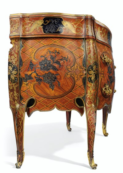 A ROYAL SPANISH BRASS-INLAID A