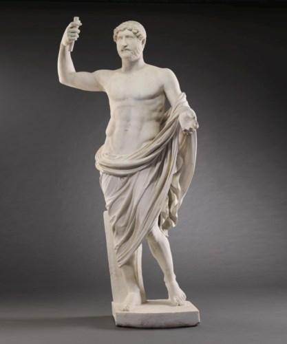 A ROMAN MARBLE STATUE OF THE E