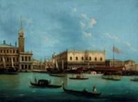 Venice, the Molo from the Bacino di San Marco, with the Bucintoro