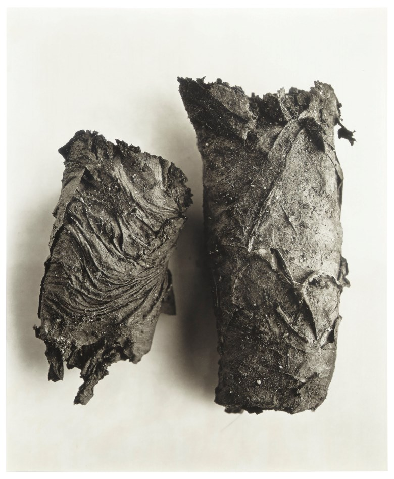 Irving Penn (1917–2009), Cigarette no. 69, New York, 1972. Sheetflush mount 26 x 22  in (66 x 56  cm). Estimate $30,000-50,000. This lot is offered in Daydreaming Photographs from the Goldstein Collection on 2 April 2019 at Christie's in New York