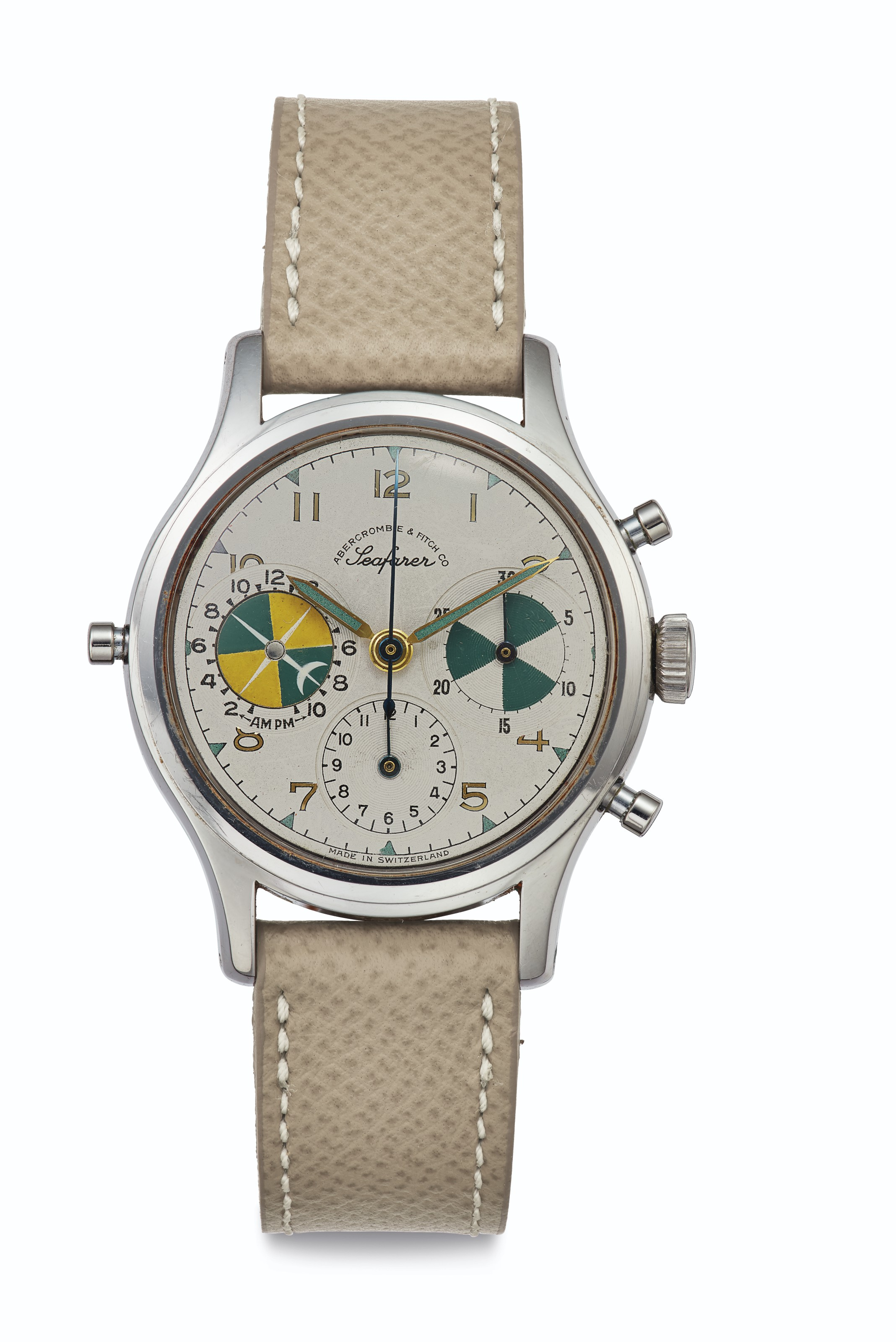 Heuer. A Fine Stainless Steel Chronograph Wristwatch with Tide Indication and Regatta Countdown