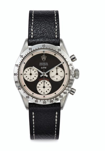 Rolex. An Exceptionally Rare and Attractive Stainless Steel Chronograph...