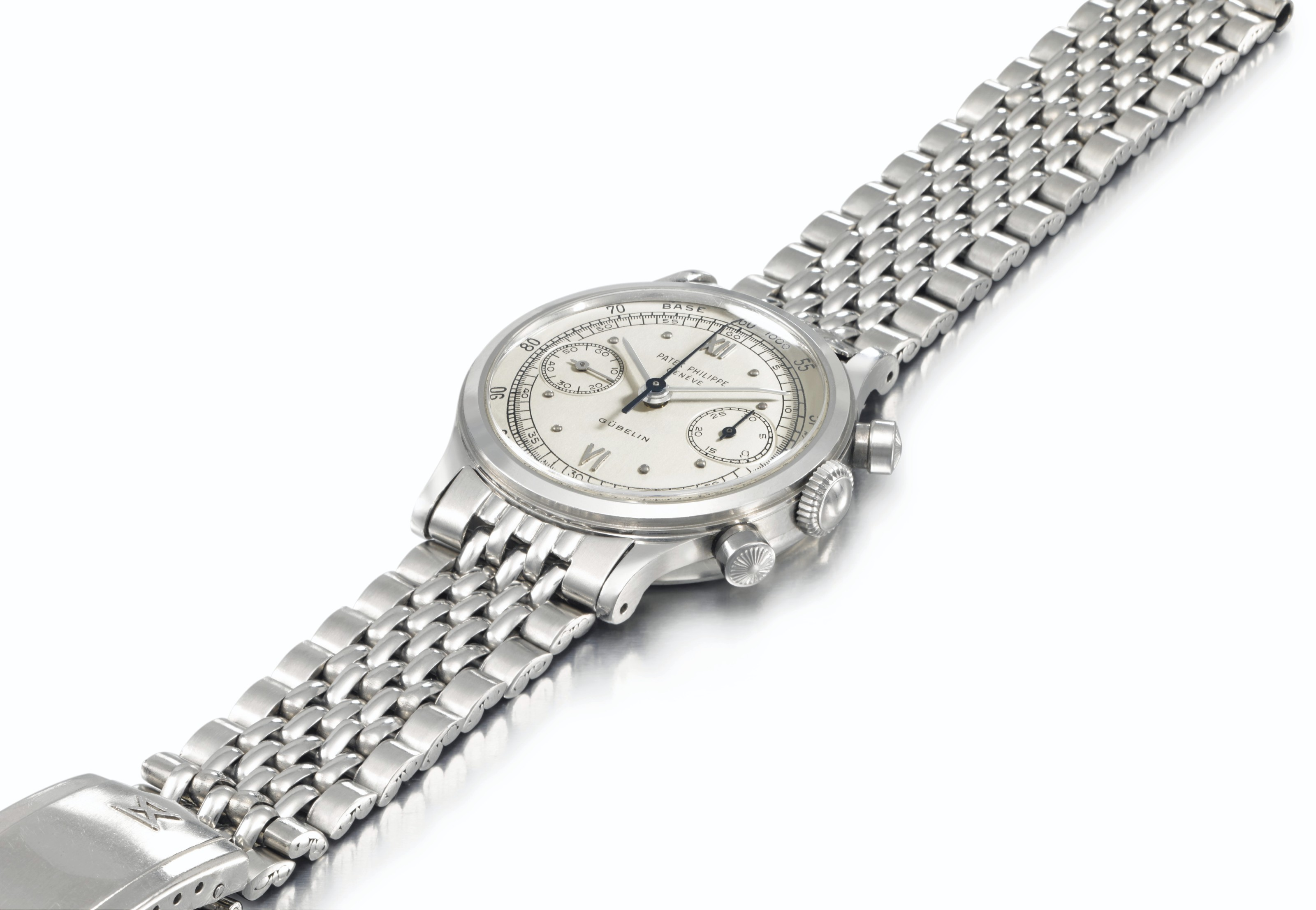 Patek Philippe. An Extremely Fine, Rare and Attractive Stainless Steel Chronograph Wristwatch with Bracelet