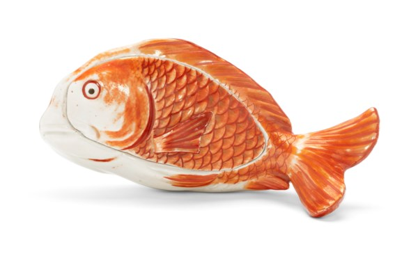 A JAPANESE FISH TUREEN AND COVER