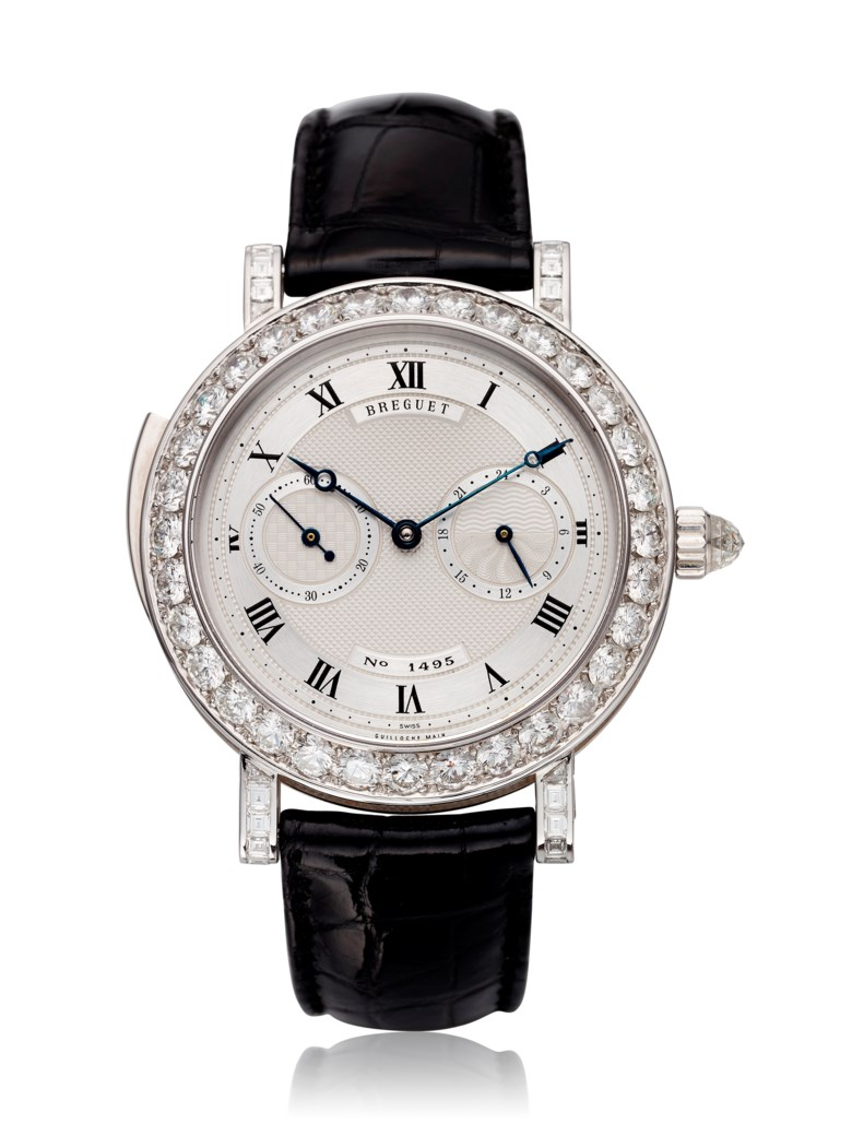 Breguet, 18k white gold and diamond-set minute-repeating watch, ref. 3938. Case diameter 40 mm. Estimate $20,000-30,000. Offered in Christie's Watches Online, 26 February to 12 March 2019