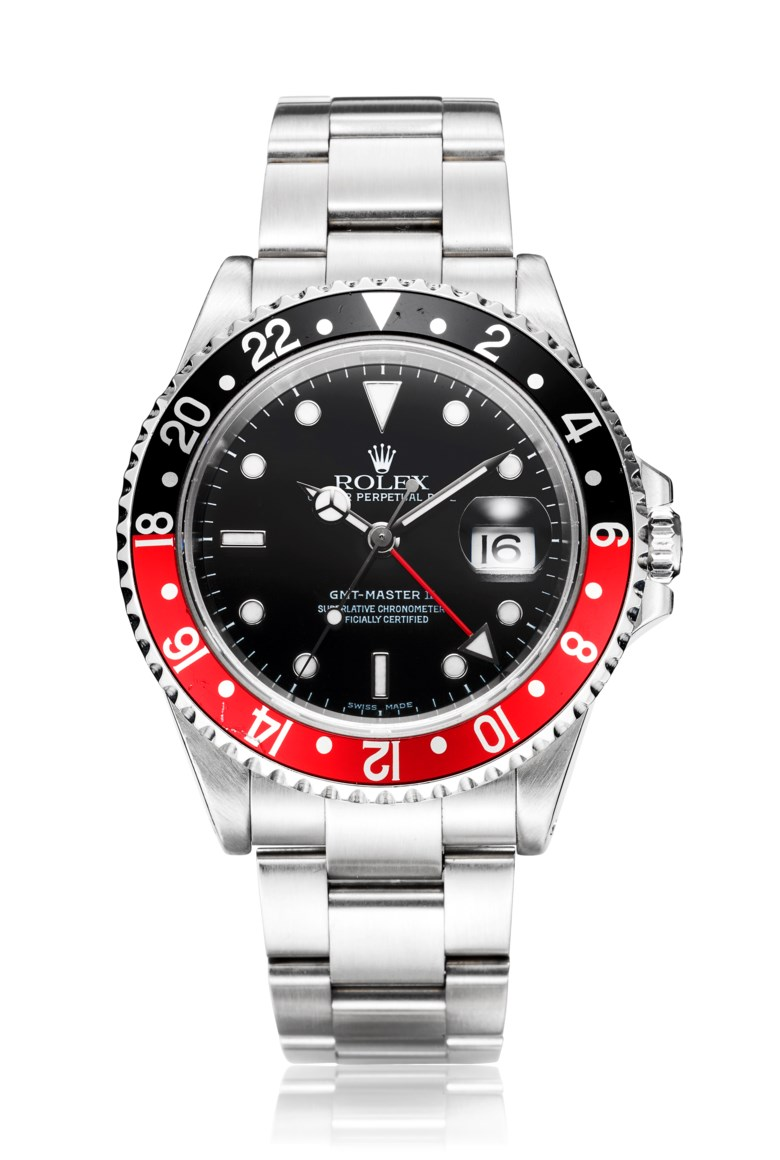 Rolex, GMT-Master II Coke, ref. 16710. Bracelet 7.28 inches  185 mm. Estimate $8,000-12,000. Offered in Christie's Watches Online, 26 February to 12 March 2019