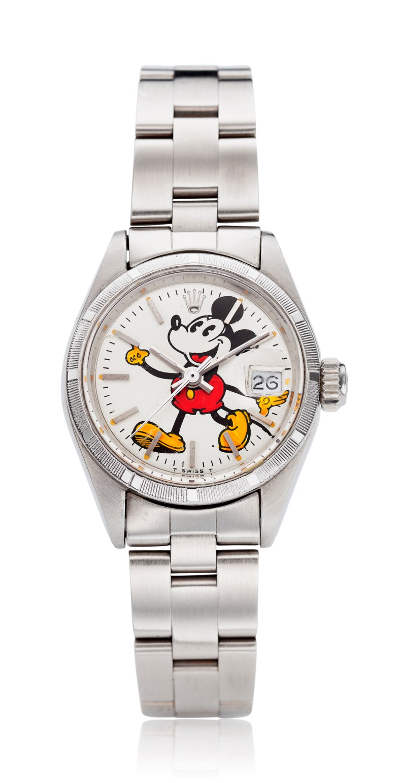 Rolex, ladies' Datejust 'Mickey Mouse', ref. 6919. Sold for $7,500 on 7 May 2019, online