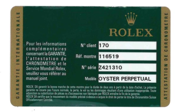 ROLEX, 18K DAYTONA 'BEACH, REF. 116519