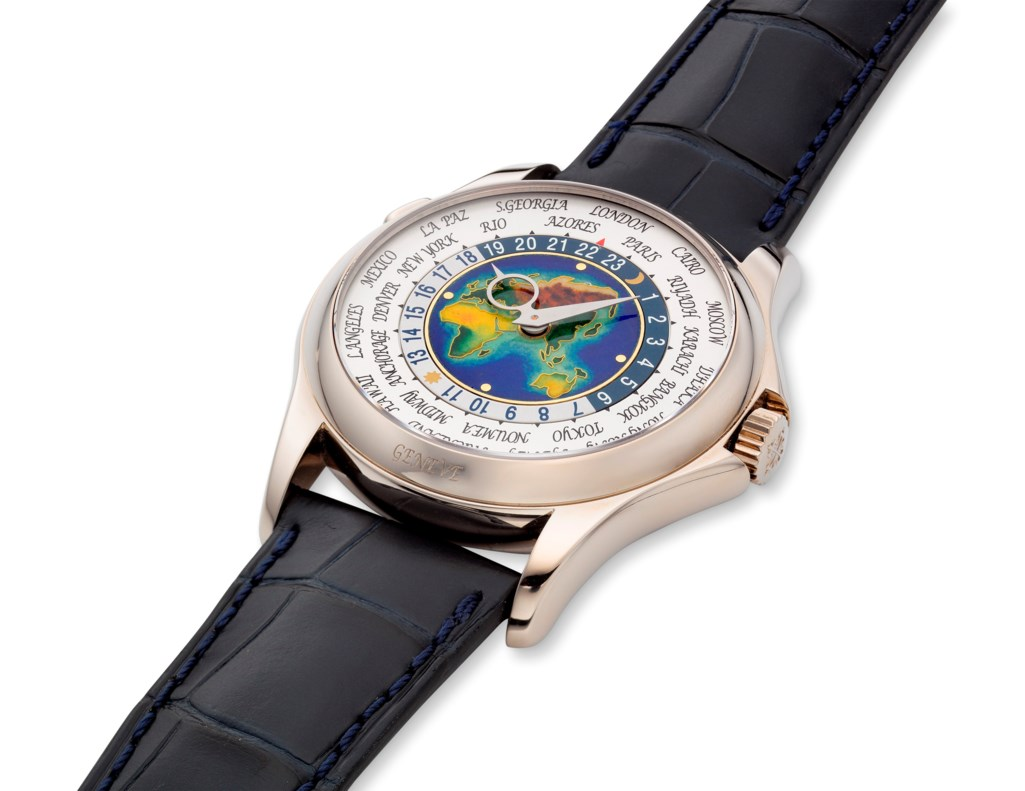 PATEK PHILIPPE, 18K WORLD TIME ENAMEL DIAL, REF. 5131G