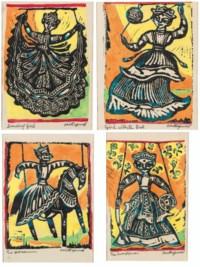 Dancing Girl; Girl with Ball; The Horseman; The Swordsman