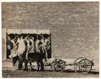 Mule Team and Poster, Demopolis, Alabama, 1936