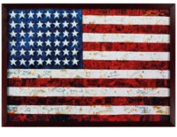 Flag, after Jasper Johns, from Pictures of Pigment, 2007