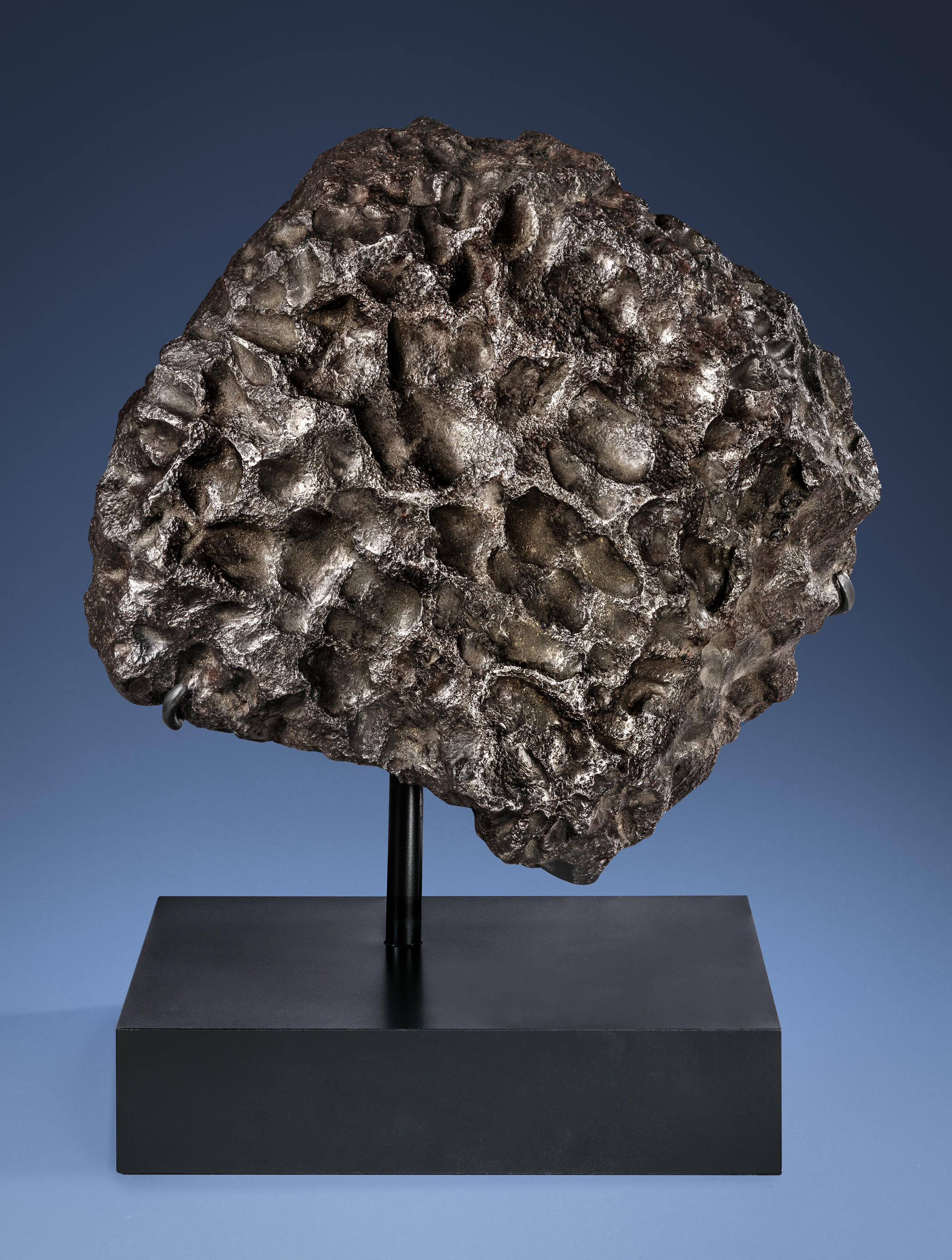 MASSIVE SCULPTURE FROM OUTER SPACE — AESTHETIC CAMPO DEL CIELO IRON METEORITE