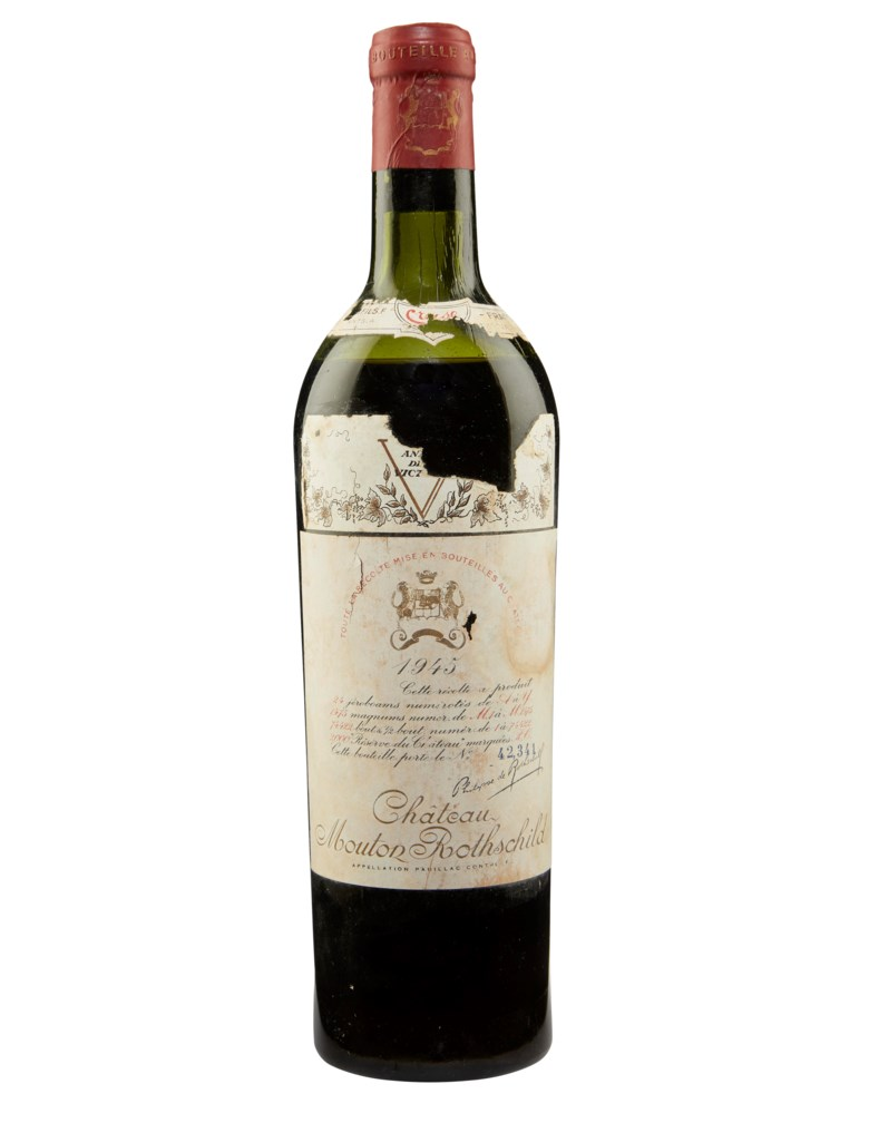 Château Mouton-Rothschild 1945, Pauillac, 1er cru classé. Sold for $3,500, 30 Jul 2019, Online