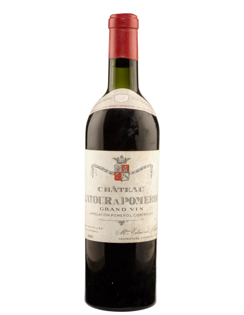 Château Latour à Pomerol 1961, Pomerol. Sold for $5,250, 30 Jul 2019, Online