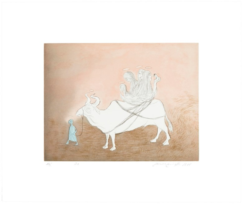 Leonora Carrington (1917-2011), Beasts. Sheet 16¾ x 19⅞ in (426 x 505 mm). Estimate $5,000-7,000. Offered in  Graphicstudio Online, 17-24 October 2019, Online