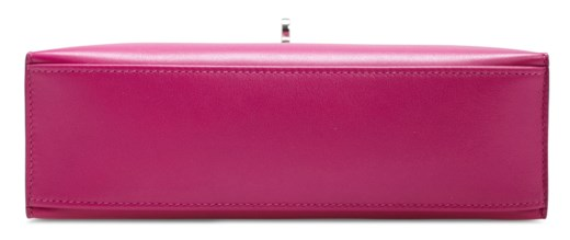 A ROSE POURPRE SWIFT LEATHER KELLY POCHETTE WITH PALLADIUM HARDWARE