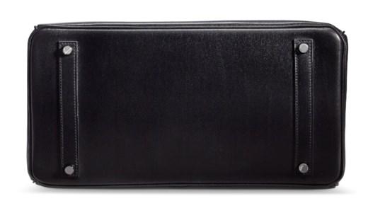 A LIMITED EDITION BLACK CALFBOX LEATHER SO BLACK BIRKIN 35 WITH BLACK PVC HARDWARE