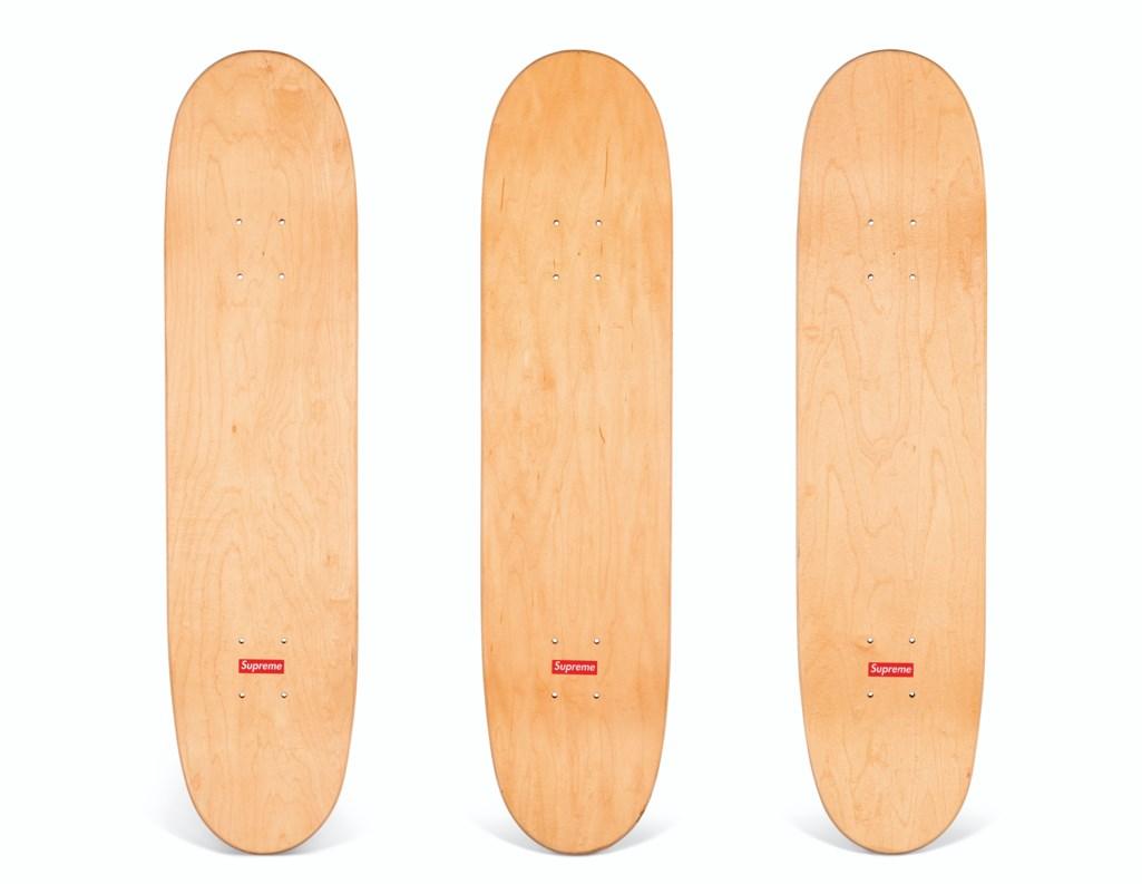 A SET OF THREE CEASE & DESIST LOUIS VUITTON SKATEBOARDS