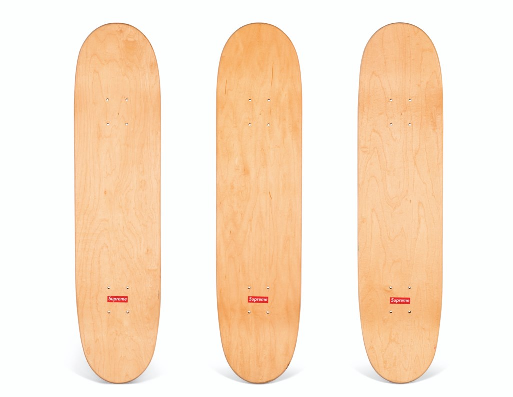 A SET OF THREE CEASE & DESIST LOUIS VUITTON SKATEBOARDS