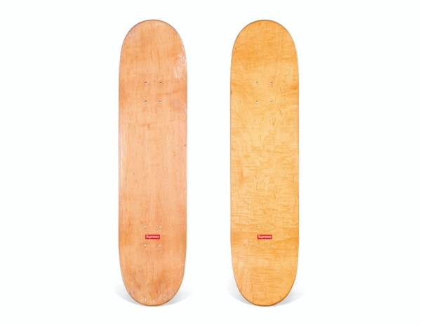 A SET OF TWO PAISLEY SKATEBOARDS