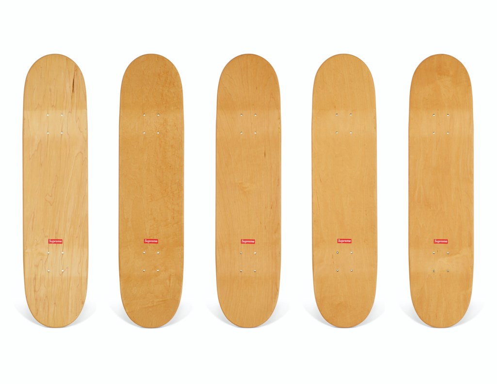 A SET OF FIVE LAST SUPPER SERIES SKATEBOARDS