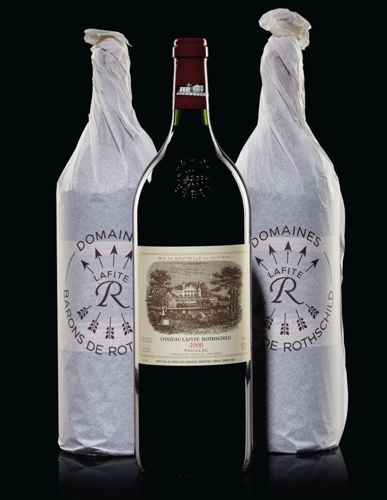 Château Lafite-Rothschild 2000, 6 magnums per lot. Estimate $12,000-15,000. Offered in Finest & Rarest Wines and Spirits on 13 December 2019 at Christie's in New York