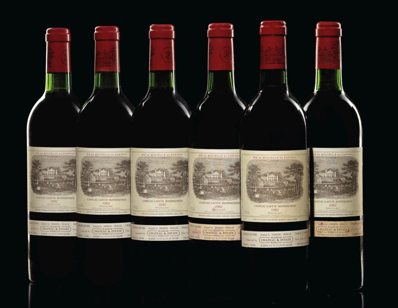 Château Lafite-Rothschild 1982, 12 bottles per lot. Estimate $26,000-35,000. Offered in Finest & Rarest Wines and Spirits on 13 December 2019 at Christie's in New York