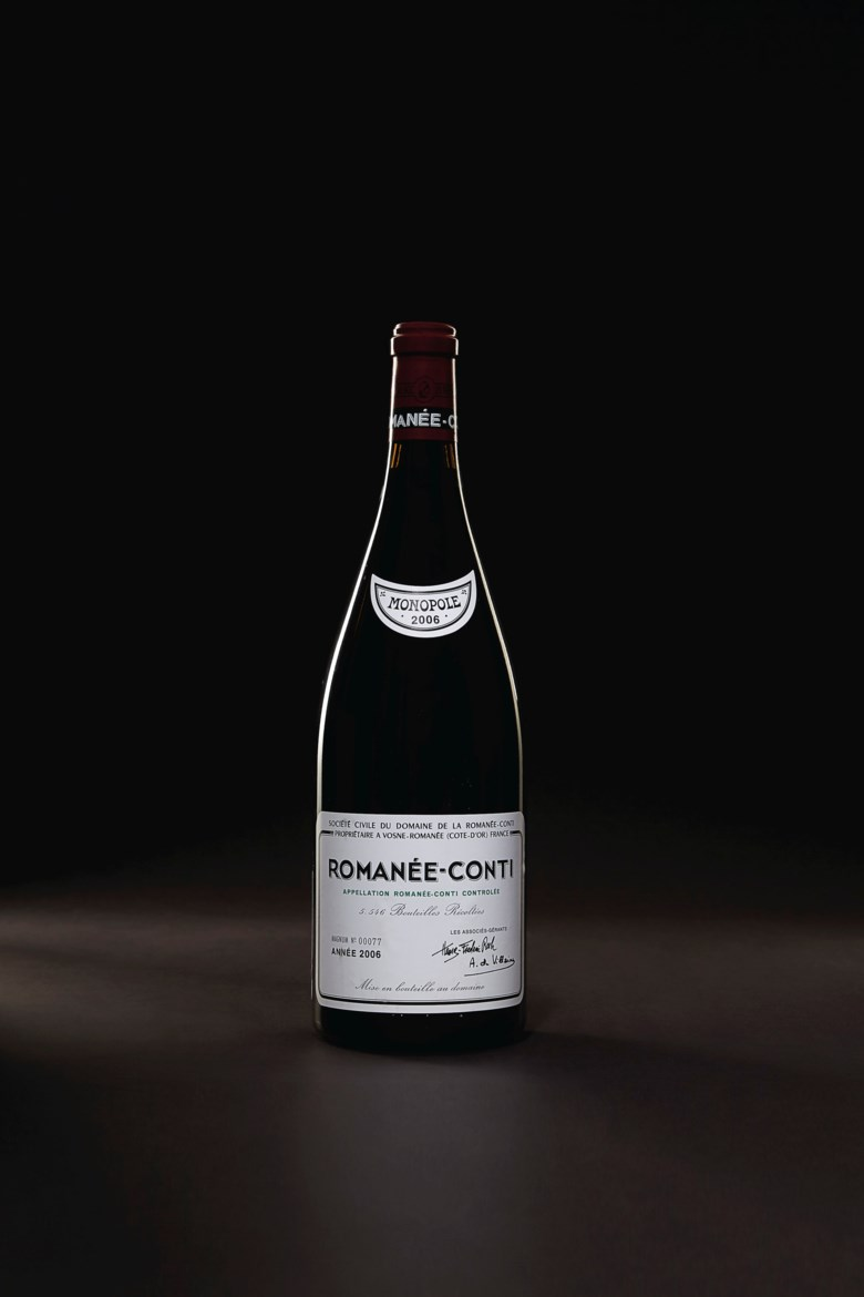 Domaine de la Romanée-Conti, Romanée-Conti 2006, 1 magnum per lot. Level 1.5cm. Estimate $30,000-40,000. Offered in Finest & Rarest Wines Including Three Superb Private Collections on 11 October 2019 at Christie's in New York