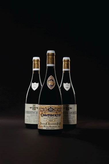 Rousseau, Chambertin 2005, 1 bottle per lot. Estimate $2,600-3,500. Offered in Finest & Rarest Wines Including Three Superb Private Collections on 11 October 2019 at Christie's in New York