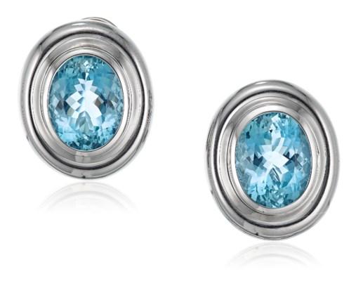 a9dc675e8 TIFFANY & CO. PALOMA PICASSO AQUAMARINE EARRINGS, | Christie's